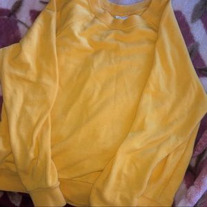 H&M Mustard sweatshirt